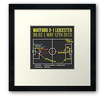 Troy Deeney Goal: Watford 3-1 Leicester 2013 Framed Print