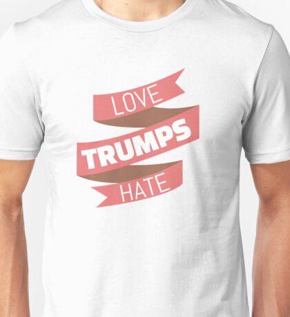 Love Trumps Hate Ribbon Unisex T-Shirt