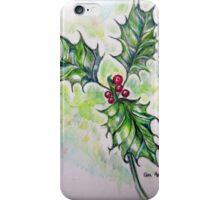 Ilex aquifolium iPhone Case/Skin