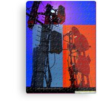 digital world multi-colored Metal Print