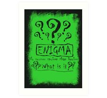 the quest of the riddler Art Print