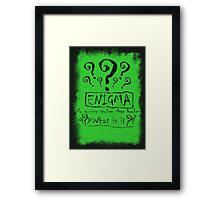 the quest of the riddler Framed Print