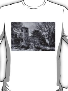 St Botolph's Church, Rugby Black and White T-Shirt