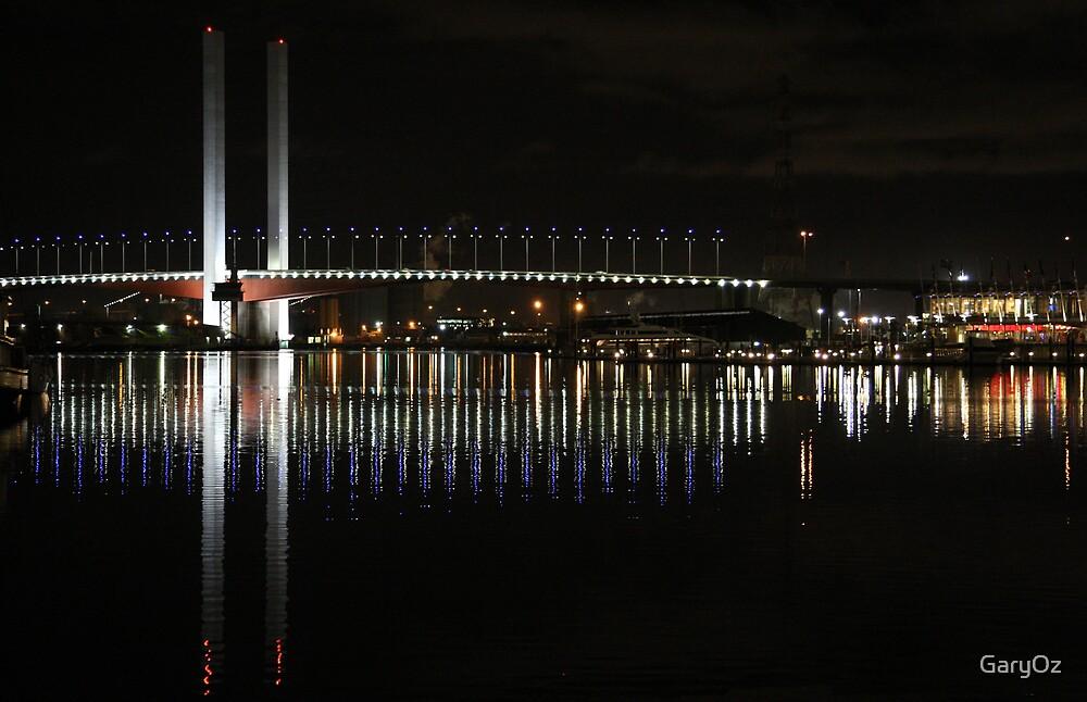Melbourne's Bolte Bridge by night by GaryOz