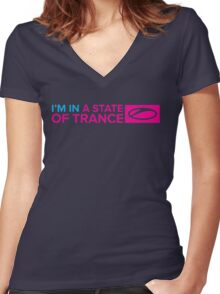 I'm In A State Of Trance Women's Fitted V-Neck T-Shirt