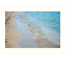 Baby Waves on the Caribbean Art Print