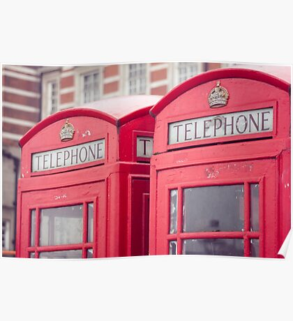 London Telephone Booth Poster