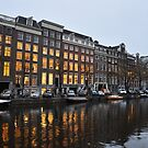 Amsterdam Canal at Dusk by Hilda Rytteke