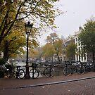 Bikes on a Bridge in Amsterdam by Hilda Rytteke