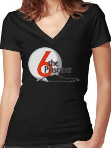 The Prisoner - Number Six - Be Seeing You - 6 Women's Fitted V-Neck T-Shirt