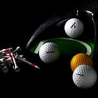 Golf Balls & Tees by Andrew Pounder