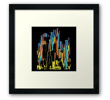 strippy city Framed Print