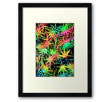 Tropical Jungle at Midnight Framed Print