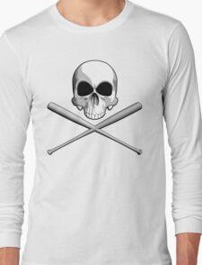 Skull and Baseball Bats Long Sleeve T-Shirt