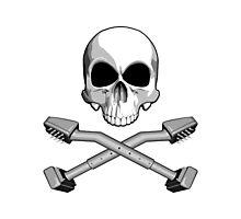 Flooring Skull: Carpet installer Photographic Print