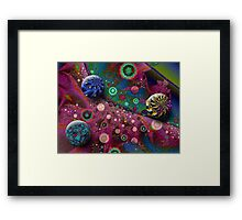 Stormy Sea in Colours Framed Print
