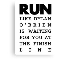 RUN - Dylan O'Brien  Canvas Print