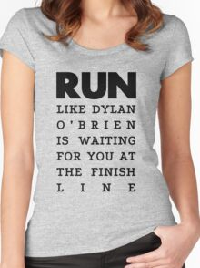 RUN - Dylan O'Brien  Women's Fitted Scoop T-Shirt