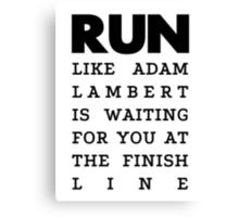 RUN -  Adam Lambert Canvas Print