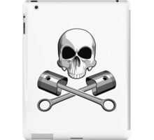 Skull and Crossed Pistons iPad Case/Skin