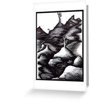 Constrasted Landscape Greeting Card