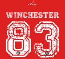 Team Sam Winchester white letters by silentrebel