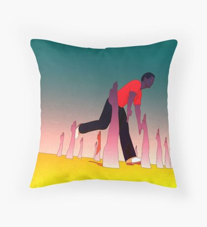 While I'm Here Throw Pillow