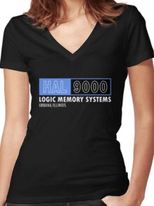 HAL 9000 - 2001: A Space Odyssey - Kubrick/Arthur C. Clark Women's Fitted V-Neck T-Shirt