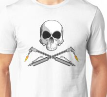 Skull with Crossed Welding Torches Unisex T-Shirt