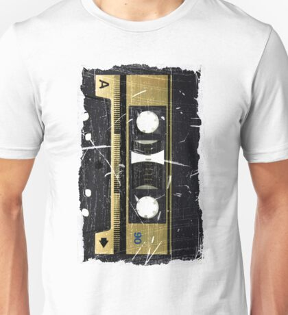 Retro - Cassette Tape - Worn Unisex T-Shirt