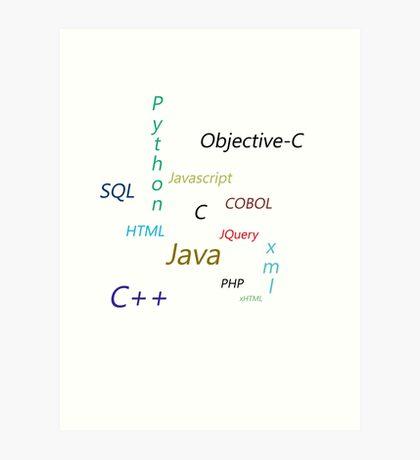 Programming Languages Art Print