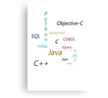 Programming Languages Canvas Print