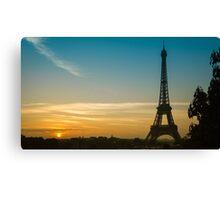 Sunrise at Eiffel Canvas Print