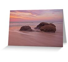 cable beach rocks sunset  Greeting Card