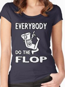 Do the FLOP! Women's Fitted Scoop T-Shirt