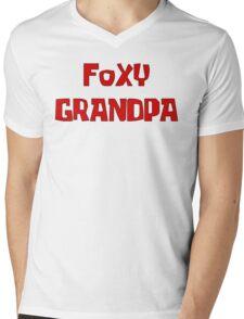 FOXY GRANDPA Mens V-Neck T-Shirt