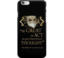"Shakespeare King John ""Be Great"" Quote iPhone Case/Skin"