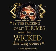 """Shakespeare Macbeth """"Something Wicked"""" Quote Mens V-Neck T-Shirt"""