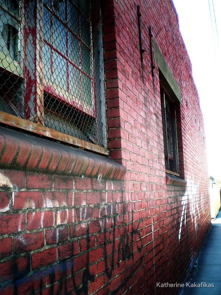 Old Brick Wall by Katherine Kakafikas