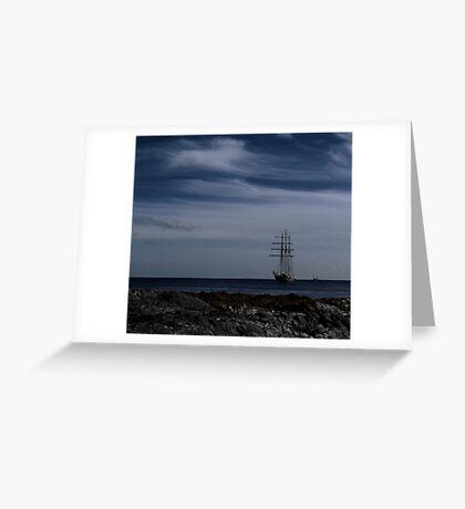 Tall Ship Bangor Bay Greeting Card