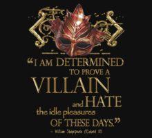 Shakespeare Richard III Villain Quote One Piece - Short Sleeve