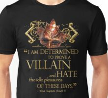Shakespeare Richard III Villain Quote Unisex T-Shirt