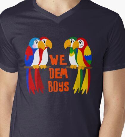 We Dem Tiki Boys Mens V-Neck T-Shirt