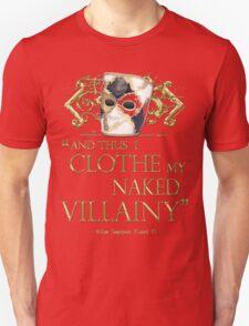 Shakespeare's Richard III Naked Villainy Quote T-Shirt