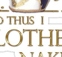 Shakespeare's Richard III Naked Villainy Quote Sticker