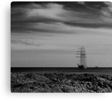 Tall Ship Bangor Mono Canvas Print