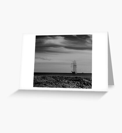 Tall Ship Bangor Mono Greeting Card