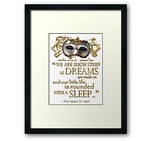 Shakespeare The Tempest Dreams Quote Framed Print