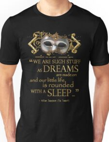 Shakespeare The Tempest Dreams Quote Unisex T-Shirt