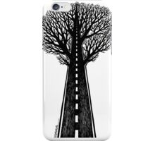 Road and tree iPhone Case/Skin